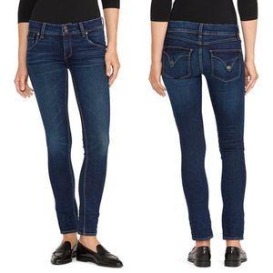 Hudson Collin Midrise Skinny Dark Cotton Jeans 28